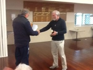 JIM Cater winner of the West Section. Flock and Yearling Champs from Raumati 04/10/14
