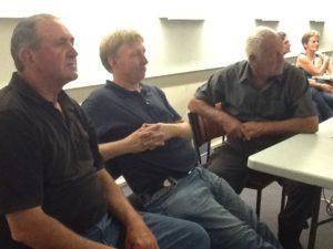 Craig Gray - David Moors and Ray Cooke look on at the results.