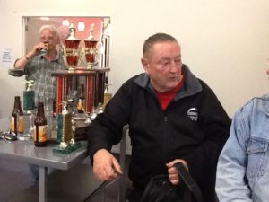 Kerry Frazer with his swag of trophies.