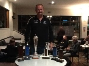 Kevin Malone with his trophy haul. Well done an excellent race.