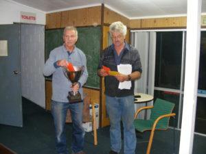Tony Thum winner of Old Bird Fed race from Raumati
