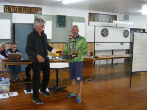 CDHC Lofts - Clints presented with his trophy for an excellent win from Timuru.