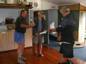 Craig Gray receives his trophy for second place Old Bird ARPF Christchurch.